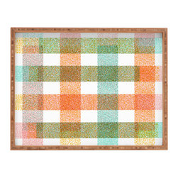 DENY Designs - Zoe Wodarz Pastel Plaid Rectangular Tray - With DENY's multifunctional rectangular tray collection, you can use it for decoration in just about any room of the house or go the traditional route to serve cocktails. Either way, you��_ll be the ever so stylish hostess with the mostess!