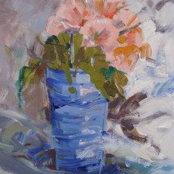 Blue Cup Artwork - Alla Prima painting still life