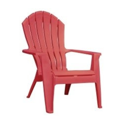 Adams High Back Stacking Adirondack Chair in Cherry Red -
