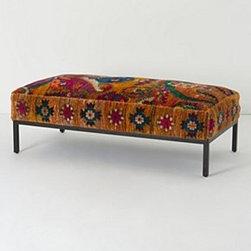 Anthropologie - Olumes Rug Ottoman - *Silk upholstery