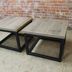 Steel Base End Tables & Side Tables - Made by http://www.ecustomfinishes.com