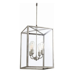Arteriors Home - Arteriors Home Savannah 4L Aged Iron/Glass Pendant - Arteriors Home 89626 - Arteriors Home 89626 - The Savannah Pendant from Arteriors blends style and sophistication and will complement any dcor.