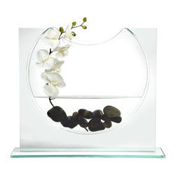 """Z Gallerie - Ellipse Vase - 20""""H - The stellar combination of smooth glass and a thin, elliptical shape gives our Ellipse Vase a futuristic sense of style and will provide you with countless decorative possibilities."""