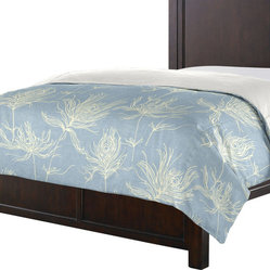 Custom Reversible Light Blue Graphic Print Duvet Cover