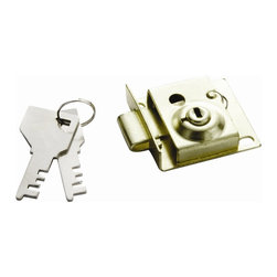 First Watch Security - Mailbox Lock in Polished Brass (Set of 10) - Easy to install replacement. Brass plated steel. Key cylinder is offset from center. 5/16 in. Bolt. Polished Brass Finish