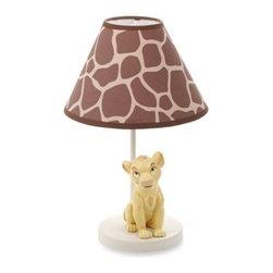 Disney Baby - Disney Baby Lion King Go Wild Lamp & Shade - The Lion King Go Wild Lamp & Shade coordinate perfectly with the Disney Baby Lion King Go Wild Crib Bedding Collection.
