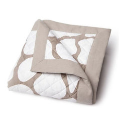 Oilo - Cobblestone Quilted Blanket, Taupe - Turn a questionable area of flooring or carpet into a clean, stylish play space for your baby. Oilo's new line of quilted blankets measure 40x50 inches and feature a a 300 thread count snuggly soft sateen fabric. Accentuated by solid 2-inch flange along the edges.