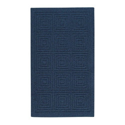 Mohawk - Contemporary Transom 5'x8' Rectangle Navy Blue-Blue Area Rug - The Transom area rug Collection offers an affordable assortment of Contemporary stylings. Transom features a blend of natural Navy Blue-Blue color. Machine Made of Olefin the Transom Collection is an intriguing compliment to any decor.