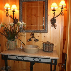 traditional powder room by KAREN ZAPPETTINI, ASID