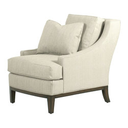 Elizabeth Chair, Ivory - Two of these chairs will be great places to relax at the end of the day.