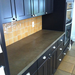 Concrete countertops Atlanta - Concrete Kitchen countertops by Burco Surface & Decor