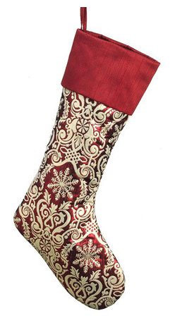 Silk Plants Direct - Silk Plants Direct Christmas Jacquard and Dupion Cuff Stocking (Pack of 6) - Pack of 6. Silk Plants Direct specializes in manufacturing, design and supply of the most life-like, premium quality artificial plants, trees, flowers, arrangements, topiaries and containers for home, office and commercial use. Our Christmas Jacquard and Dupion Cuff Stocking includes the following: