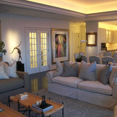 Contemporary Living Room by Allen.Stear.Designs