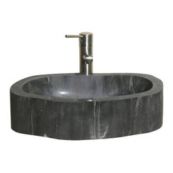 """The Allstone Group - V-VNPBKB Petrified BK3 Vessel Sink - Petrified wood (from the Greek root petro meaning """"rock"""" or """"stone""""; literally """"wood turned into stone"""") is the name given to a special type of fossilized remains of terrestrial vegetation. From the Far East to your bathroom a petrified sink will certainly add a touch of old and elegance to your new home or remodel."""