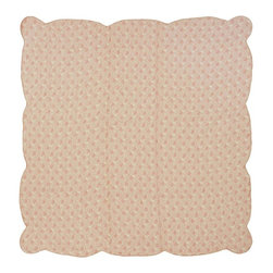 "VHC Brands / Ashton & Willow - Genevieve Quilt, Twin - The Genevieve collection features a soft floral pattern of pink tones with a reverse seam detail on the front of the quilt. It has 100% cotton shell and is machine quilted with a ""wave"" quilting."