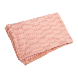 Imax - Gemma Faux Fur Throw - In a blushing pink hue,the faux fur Gemma throw adds a soft touch of color to any home. Machine washable fabric adds convenience to this gorgeous piece.