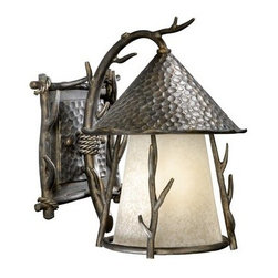 Vaxcel Lighting - Vaxcel Lighting WD-OWD090 Woodland 1 Light Outdoor Wall Sconce - Features: