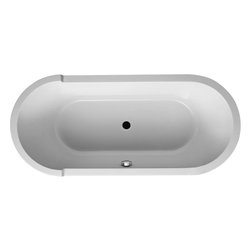 Starck Bathtub #700010 by Duravit - This tub is the kind you spend time soaking in. Free standing and deep, it's designed for comfort and probably bubble baths.