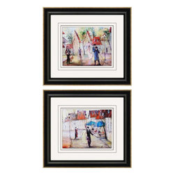 Paragon - European Street PK/2 - Framed Art - Each product is custom made upon order so there might be small variations from the picture displayed. No two pieces are exactly alike.