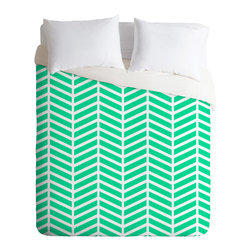 DENY Designs - Rebecca Allen Turquoise Bliss Duvet Cover - Turn your basic, boring down comforter into the super stylish focal point of your bedroom. Our Luxe Duvet is made from a heavy-weight luxurious woven polyester with a 50% cotton/50% polyester cream bottom. It also includes a hidden zipper with interior corner ties to secure your comforter. it's comfy, fade-resistant, and custom printed for each and every customer.