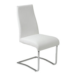 Euro Style - Euro Style Rooney Low Back Side Chair Set of 2 17216WHT - Even though it's made for sitting, the Rooney chair is a standout! Incredibly comfortable leatherette over foam, this armless dining chair is perfect around the table, especially when you want room for everybody.