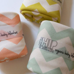 Chevron Baby Blanket by Little Hipsqueaks - These blankets are so awesome. They are totally appropriate for every room of your house, but I especially love the soft colors for a nursery. And they are organic, making them nice and healthy for baby.