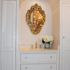 eclectic powder room by Caryn  Bortniker
