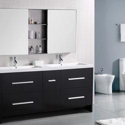 "72"" Perfecta Double Sink Vanity (DEC079B) -"