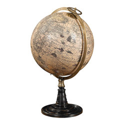 Authentic Models - Authentic Models GL046 Old World Globe Stand - The Old World at your fingertips Emblematic of 17th C. science. Uniting precious bronze with hardwood and hand applied paper gores on a papier-mache core. Legendary cartographer, Jodocus Hondius, worked in Amsterdam during the 1600s, then one of the world's commercial hubs. Galleons sailing oceans to the farthest corners of the then known world. Exotic cultures, languages, people and goods to be traded, bought and sold. Gold and ivory, spices and silks. Spin the world and enjoy a touch of true history.