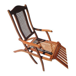 Antique Early 1900s Ocean Liner Deck Chair -