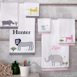 Animals Of The World Bath Towel Collection - Toweling off with a favorite animal friend adds a touch of adventure to bath time.