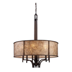Elk Lighting - Six Light Chandelier - The barringer collection emulates simplicity of form and clean lines inspired by the mission period. This was a time for craftsmen to purify over-excessive ornamentation revealing the forms that lie beneath. Since the company's inception, a commitment has been made to deliver innovative, quality product with designer appeal and conscientious value.