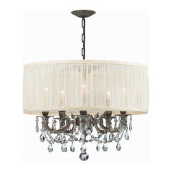 Crystorama Lighting - Crystorama Lighting 5535-PW-SAW-CLS Gramercy Traditional Chandelier in Pewter - Crystorama Lighting 5535-PW-SAW-CLS Gramercy Traditional Chandelier In Pewter With Swarovski Elements Crystal