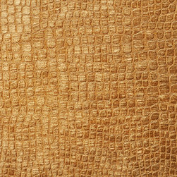 Copper Brown Alligator Print Shiny Woven Velvet Upholstery Fabric By The Yard - This alligator velvet is truly unique in the way that it shines. In addition, it is very durable and comfortable too! This material is great for residential, commercial and hospitality upholstery.