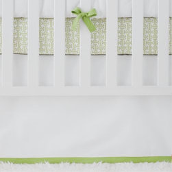 Serena & Lily - Sprout Basics Crib Skirt - Classic straight skirt with contrast band along bottom hem.