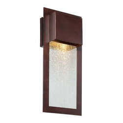 Minka Lighting - Outdoor Wall Light with Clear Glass in Alder Bronze Finish - 72382-246 - Bring your home into the modern world with ease when you choose the outdoor wall light with a clear glass shade and Alder Bronze finish. This fixture is part of Minka Lighting's Westgate Collection, and similar to others of it�s kind. This outdoor wall light is made of cast aluminum with a clear glass shade for a clean combination of lines. The whole fixture is finished with Alder Bronze for a good match to any outdoor/exterior home decor. Takes (1) 35-watt halogen MR-16 bulb(s). Bulb(s) included. UL listed. Damp location rated.