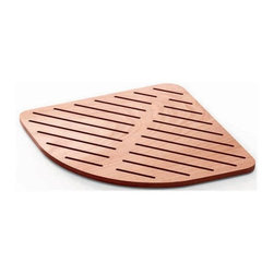 WS Bath Collections - 29.1 in. Shower Mat in Marine Plywood - Modern/contemporary design. Water Resistant. For Use Inside or Outside of Shower. Designer High End Quality. Warranty: One year. Made from solid okume wood. Made by Lineabeta of Italy. No assembly required. 29.1 in. L x 29.1 in. W x 0.8 in. H (12 lbs.). Spec SheetUnique and fine bath accessories and complements, that provide inspirational solutions for every decor.