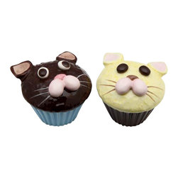 ATD - 2 5/8 Inch Cat Face Cup Cake Style Salt and Pepper Shaker Set - This gorgeous 2 5/8 Inch Cat Face Cup Cake Style Salt and Pepper Shaker Set has the finest details and highest quality you will find anywhere! 2 5/8 Inch Cat Face Cup Cake Style Salt and Pepper Shaker Set is truly remarkable.