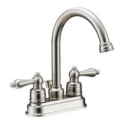 Designers Impressions - Designers Impressions 617429 Satin Nickel Lavatory Vanity Faucet - Quarter Turn Washerless Valves