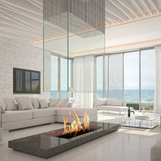 Contemporary Fireplaces by Seifer Kitchen Design Center
