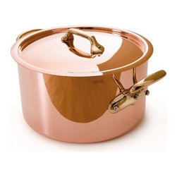 Mauviel - Mauviel M'hritage Copper & Stainless Steel Stew pot & Lid, 6.3 qt. - Bilaminated copper stainless steel (90% copper and 10% 18/10 stainless steel)