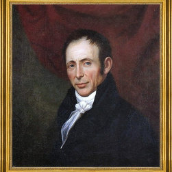 """Charles Peale Polk-16""""x20"""" Framed Canvas - 16"""" x 20"""" Charles Peale Polk Self Portrait framed premium canvas print reproduced to meet museum quality standards. Our museum quality canvas prints are produced using high-precision print technology for a more accurate reproduction printed on high quality canvas with fade-resistant, archival inks. Our progressive business model allows us to offer works of art to you at the best wholesale pricing, significantly less than art gallery prices, affordable to all. This artwork is hand stretched onto wooden stretcher bars, then mounted into our 3"""" wide gold finish frame with black panel by one of our expert framers. Our framed canvas print comes with hardware, ready to hang on your wall.  We present a comprehensive collection of exceptional canvas art reproductions by Charles Peale Polk."""
