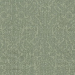 Wallpaper Worldwide - Illinois - Corduroy Damask Wallpaper, Green, Grey, Offwhite - Material: Paper Backed. PVC.