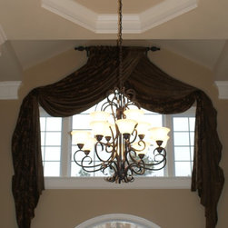 Window Treatments - Custom window treatment for entry by Teresa Norwood & Wendy Russell