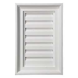 "Ekena Millwork - 24""W x 22""H Vertical Gable Vent Louver, Functional - 24""W x 22""H Vertical Gable Vent Louver, Functional. Decorative gable vents provide flair to the exterior of your home, allowing you to maintain a consistent appearance without the need for installing unnecessary and costly functional gable vents- Made from high-density polyurethane, Ekenas decorative vents are lightweight and easy to install- They are designed to withstand the elements, resisting rotting, cracking and insect infestations, and they come factory-primed and ready for your choice of paint-Features- Modeled after original historical patterns and designs-- Constructed from solid urethane for maximum durability and detail-- Lightweight for quick and easy installation-- Factory-primed and ready for paint or faux finish-- Can be cut, drilled, glued and screwed-- Designed for use on both interior and exterior applications-- Material - Urethane"