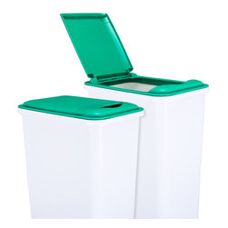 Hardware Resources - Lid for 35-Quart Plastic Waste Container Green - Lid for 35 Quart Plastic Waste Container  Green.  9 3/83 x 14 1/2 x 1 5/8.  Made of high quality polymer.  Fits CAN 35W trash can.