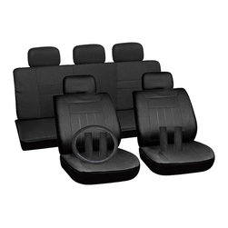 None - Oxgord Black 17-piece Car Seat Cover Automotive Set - These seat covers fit most standard vehicles offering style, durability, and protection. Seat covers are adjustable through straps, 'S' hooks, zippers, hook-and-loop fasteners, and small incisions for a near-custom fit.