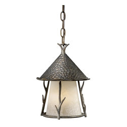 Vaxcel Lighting - Vaxcel Lighting WD-ODD090AA Berkeley Woodland Traditional Outdoor Hanging Lanter - The theme of tree branches with hand forged artistry.