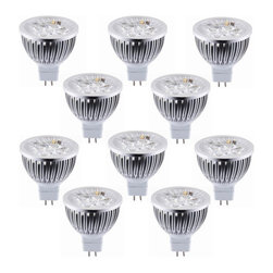 TorchStar - Lot of 10 Dimmable 12V 4W MR16 LED Bulbs  50Watt Equivalent, Warm White - Overview