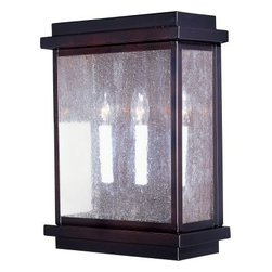 Maxim Lighting - Maxim Lighting 4650CDBU Cubes 3-Light Outdoor Wall Lantern In Burnished - Features